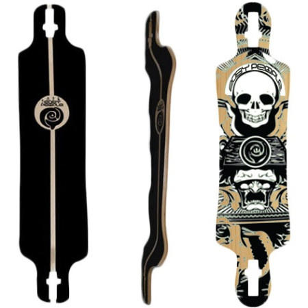 Easy People Longboards Drop Down Drop Through Lowrider Longboard Deck DDT-1-Night