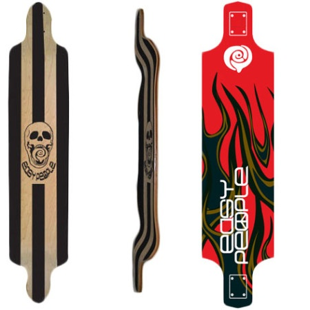 Easy People Longboards Drop Down Lowrider Longboard Deck DD-0-Hot Stuff