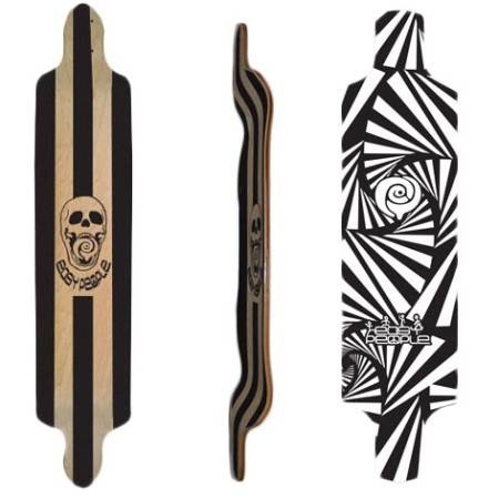 Easy People Longboards Drop Down Lowrider Longboard Deck DD-0- Watch-Out