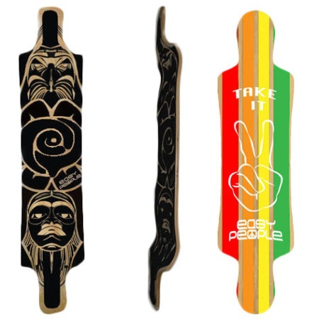 Easy People Longboards Drop Down Lowrider Longboard Deck DD-3 Reggy