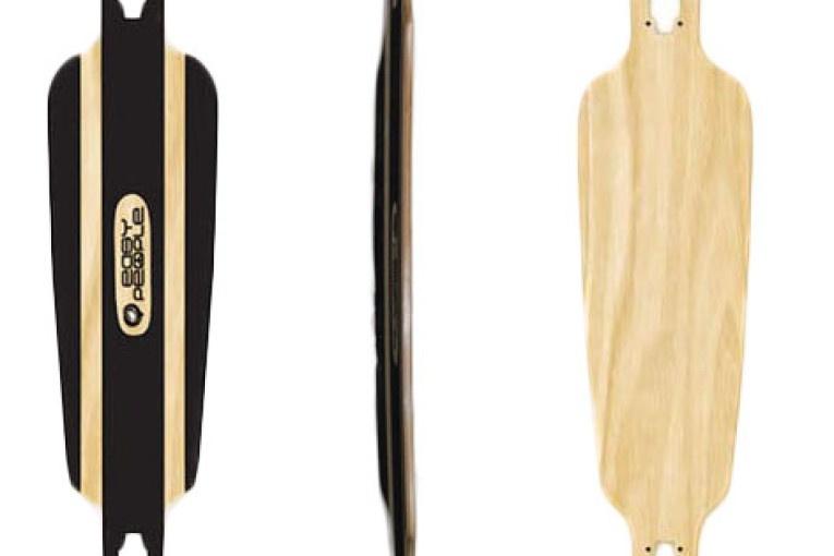 Easy People Longboards Drop Through Lowrider Longboard Deck DT-0-Blank Natural