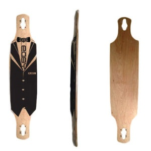 Easy People Longboards Drop Through Lowrider Longboard Deck DT-2-Blank Natural