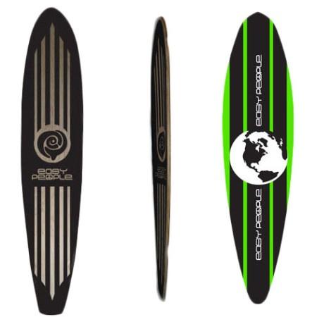 Easy People Longboards Pinatil Lowrider Longboard Deck PT-2-Lime-World