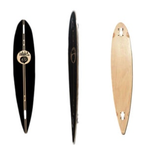 Easy People Longboards Pintail-Drop-Through Lowrider Longboard Deck PDT-0-Blank Natural