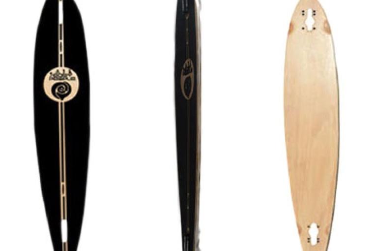 Easy People Longboards Pintail-Drop-Through Lowrider Longboard Deck PDT-0-Blank Natural