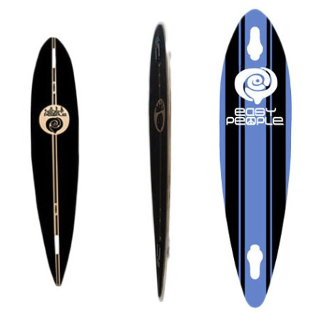 Easy People Longboards Pintail-Drop-Through Lowrider Longboard Deck PDT-0-Malibu-Blue