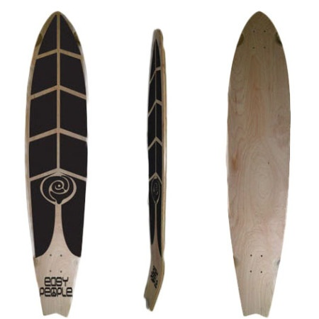 Easy People Longboards Pintail Kicktail Longboard Deck FT-1-Blank Natural