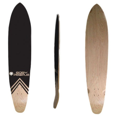 Easy People Longboards Pintail Kicktail Longboard Deck KT-0-Blank Natural