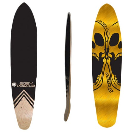 Easy People Longboards Pintail Kicktail Longboard Deck KT-0-Double Scull