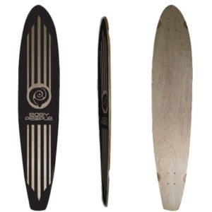 Easy People Longboards Pintail Longboard Deck PT-2 Blank Natural