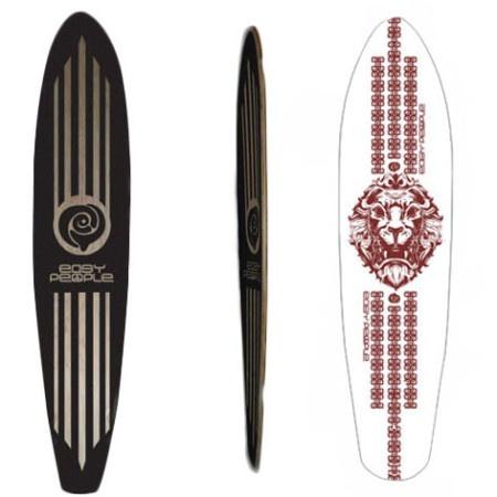 Easy People Longboards Pintail Longboard Deck PT-2 Lion