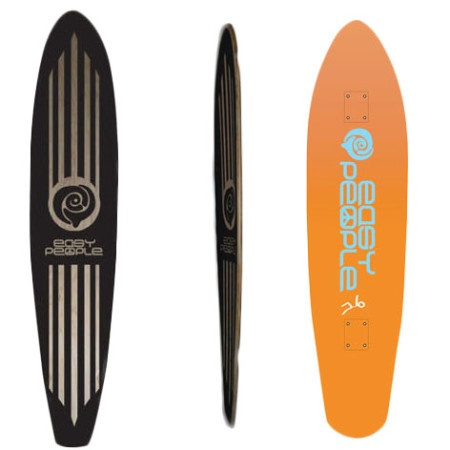 Easy People Longboards Pintail Longboard Deck PT-2 Push Positive Orange