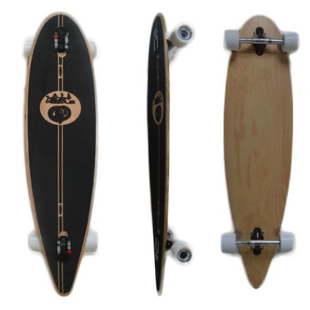 Easy People Longboards Classic Pintail Drop through Lowrider Longboard Complete PDT-0 Blank Natural