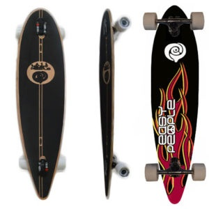 Easy People Longboards Classic Pintail Drop through Lowrider Longboard Complete PDT-0 Hot Stuff 7