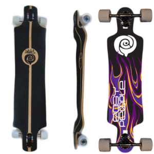 easy people longboards drop down drop through lowrider longboard complete ddt-1 night,