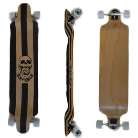 Easy People Longboards Drop Down Lowrider Longboard Complete DD-0 Blank Natural