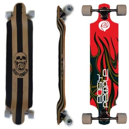Easy People Longboards Drop Down Lowrider Longboard Complete DD-0 Hot Suff