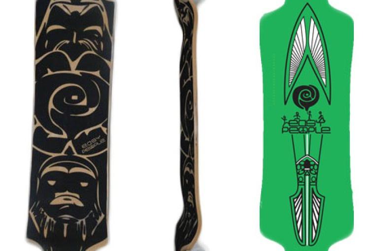 Easy People Longboards Drop Down Lowrider Longboard Complete DD-3-Arrow