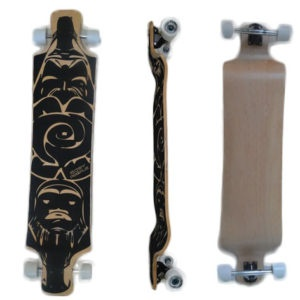 Easy People Longboards Drop Down Lowrider Longboard Complete DD-3 Blank Natural