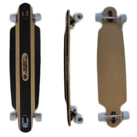 Easy People Longboards Drop Through Lowrider Longboard Complete DT-0 Blank Natural