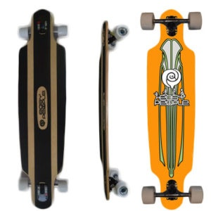Easy People Longboards Drop Through Lowrider Longboard Complete DT-0-Budda
