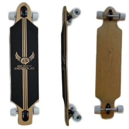 Easy People Longboards Drop Through Lowrider Longboard Complete DT-1 Blank Natural