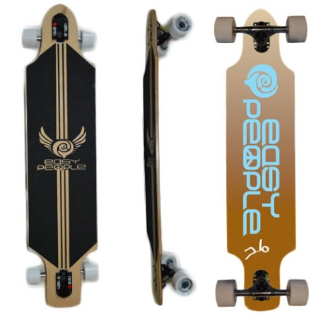 Easy People Longboards Drop Through Lowrider Longboard Complete DT-1-Push-Positive-Brown