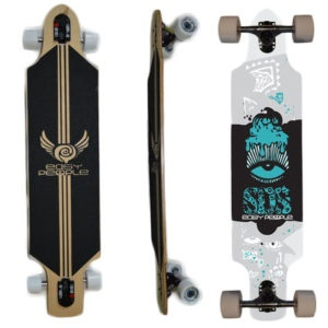 Easy People Longboards Drop Through Lowrider Longboard Complete DT-1-SOS