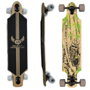 Easy People Longboards Drop Through Lowrider Longboard Complete DT-1-Samuri