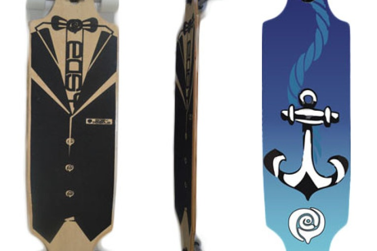 Easy People Longboards Drop Through Lowrider Longboard Complete DT-2-Anchor
