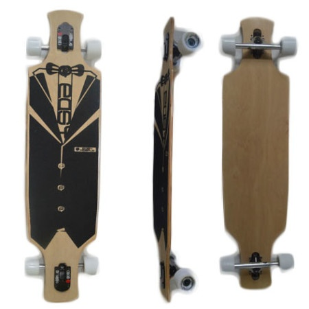 Easy People Longboards Drop Through Lowrider Longboard Complete DT-2 Blank Natural