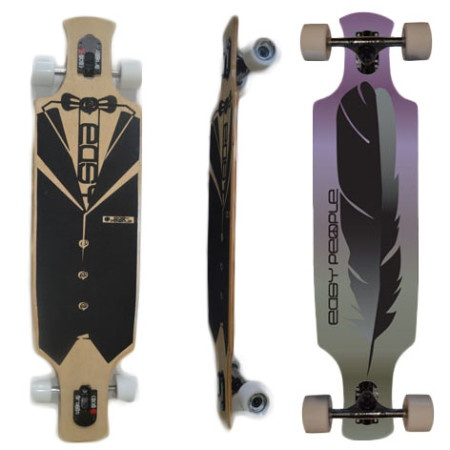 Easy People Longboards Drop Through Lowrider Longboard Complete DT-2-Feather