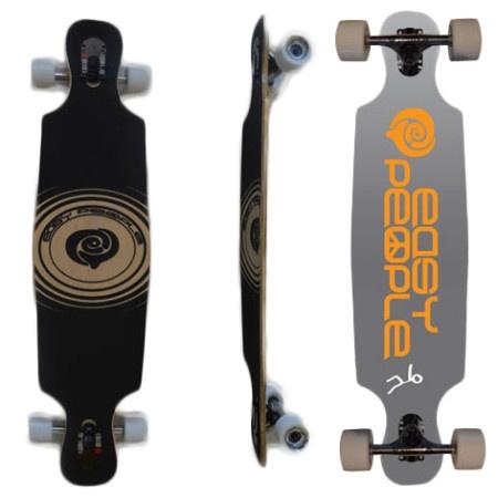 Easy People Longboards Drop Through Lowrider Longboard Complete DT-6-Push-Positive-Grey