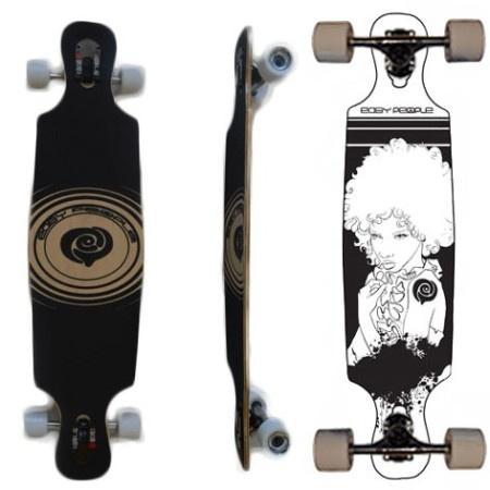 Easy People Longboards Drop Through Lowrider Longboard Deck DT-6 Afro Girl