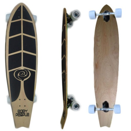 Easy People Longboards Pintail Kicktail Longboard Complete FT-1 Blank Natural