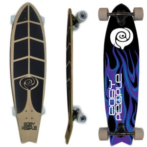 Easy People Longboards Pintail Kicktail Longboard Complete FT-1 Hot Stuff