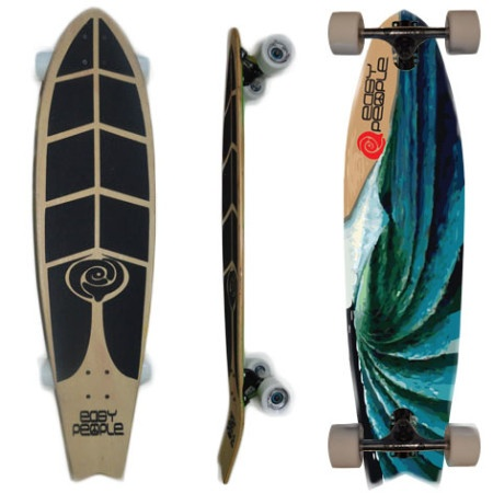 Easy People Longboards Pintail Kicktail Longboard Complete FT-1 Oceans