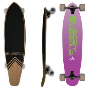 Easy People Longboards Pintail Kicktail Longboard Complete KT-0 Push Positive Purple