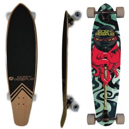 Easy People Longboards Pintail Kicktail Longboard Complete KT-0 Squid