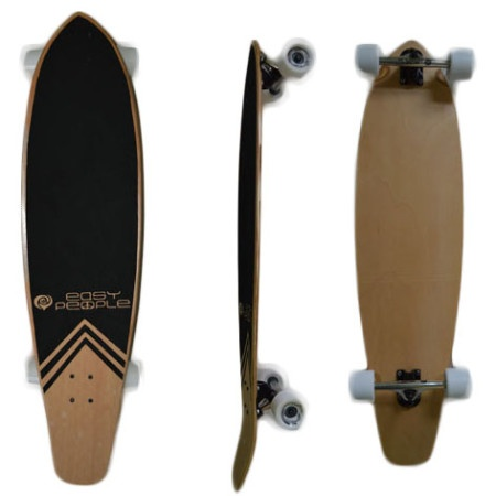Easy People Longboards Pintail Kicktail Lowrider Longboard Complete KT-0 Blank Natural