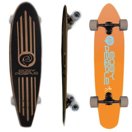 Easy People Longboards Pintail Longboard Complete PT-2 Push-Positive Orange