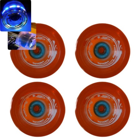 Easy People Skateboard- Roller Derby Speed Lightning Wheel Orange