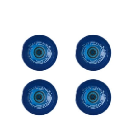 Easy people Longboards Speed Cruiser Gel Longboard Wheel Set Blue