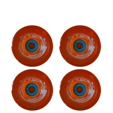 Easy people Longboards Speed Cruiser Gel Longboard Wheel Set Orange