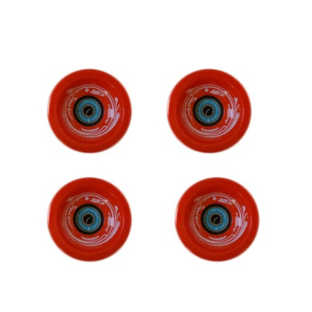 Easy people Longboards Speed Cruiser Solid Longboard Wheel Set Red