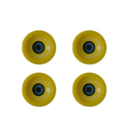 Easy people Longboards Speed Cruiser Solid Longboard Wheel Set Yellow