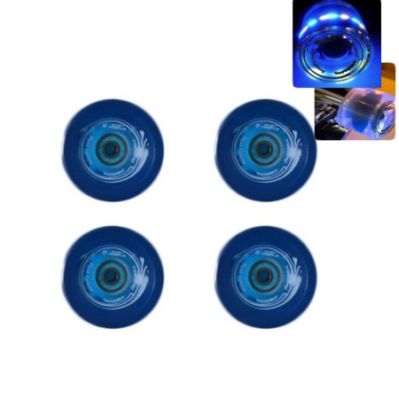 Easy people Longboards Speed Lightning Gel Longboard Wheel Set Blue