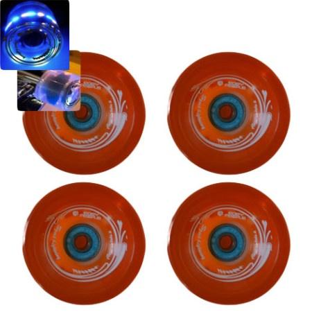 Easy people Longboards Speed Lightning Gel Longboard Wheel Set Orange