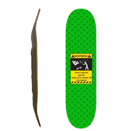 Easy People Skateboards SB-1 Blank Skateboard Deck-Lime-Green-Hit