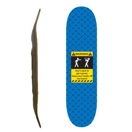 Easy People Skateboards SB-1 Blank Skateboard Deck-Sky-Blue-Injured